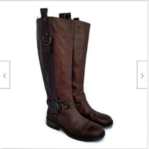 Vince Camuto brown equestrian leather boots